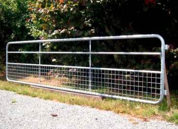 Weidetor Modell 2 - Geflecht im unteren Bereich