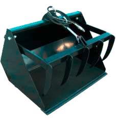 Greifschaufel für Hoflader mit 1 Zylinder
