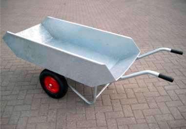 Futterwagen 2-Rad verzinkt